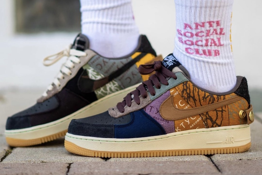On Foot Look At Travis Scott S Upcoming Nike Air Force 1 Low The