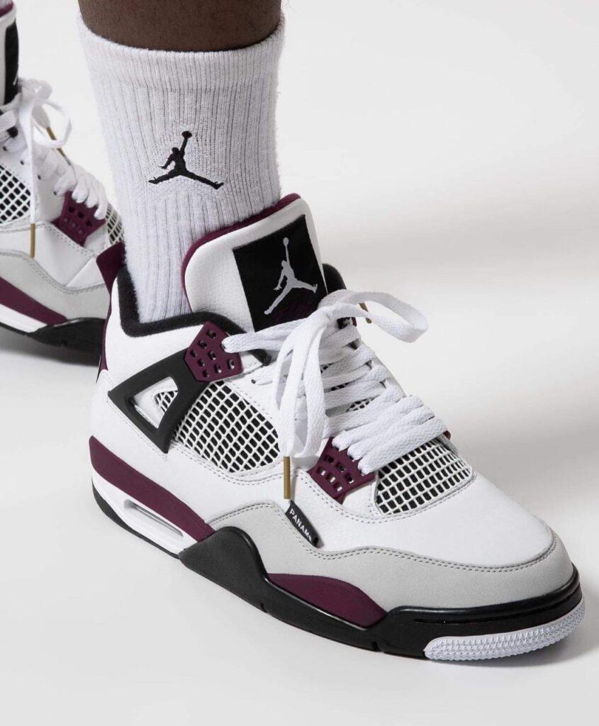 "On-Foot Look At The Air Jordan 4 Retro ""PSG"" | The Sneaker"